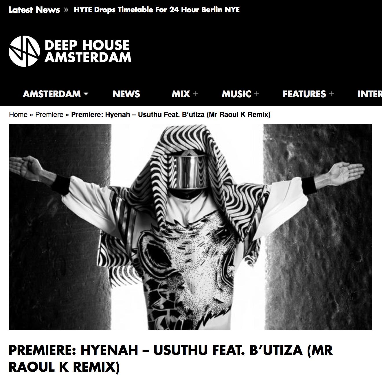 Hyenah Deephouse Amsterdam Usuthu